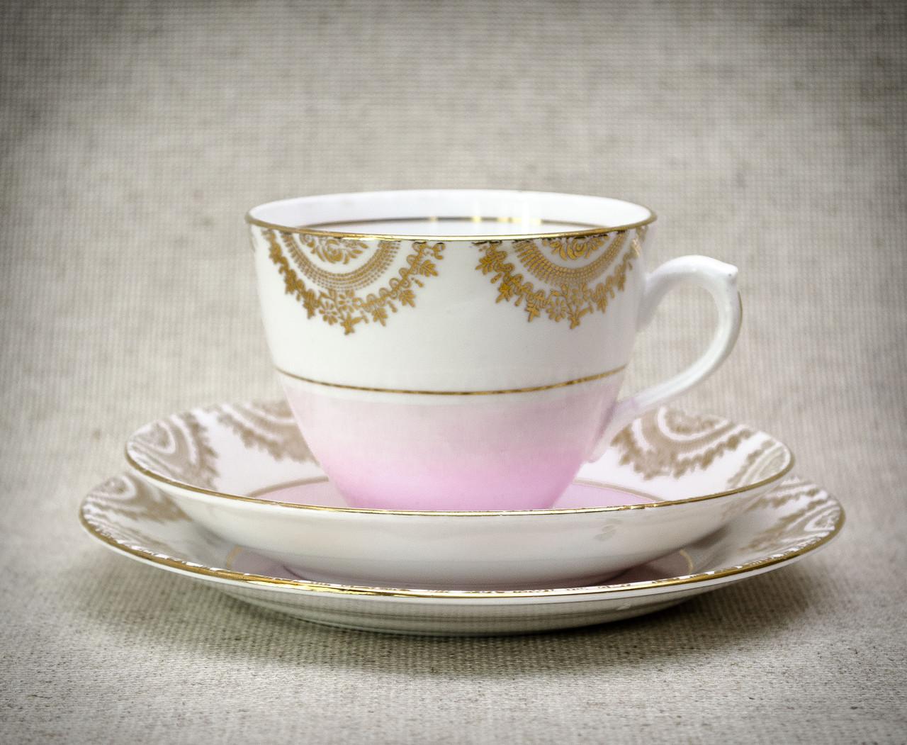 Чашка блюдце тарелка, фарфор, Англия, T. F. & S. LTD Phoenix Bone China