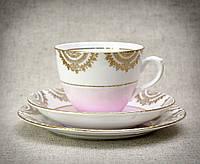 Чашка блюдце тарелка, фарфор, Англия, T. F. & S. LTD Phoenix Bone China, фото 1