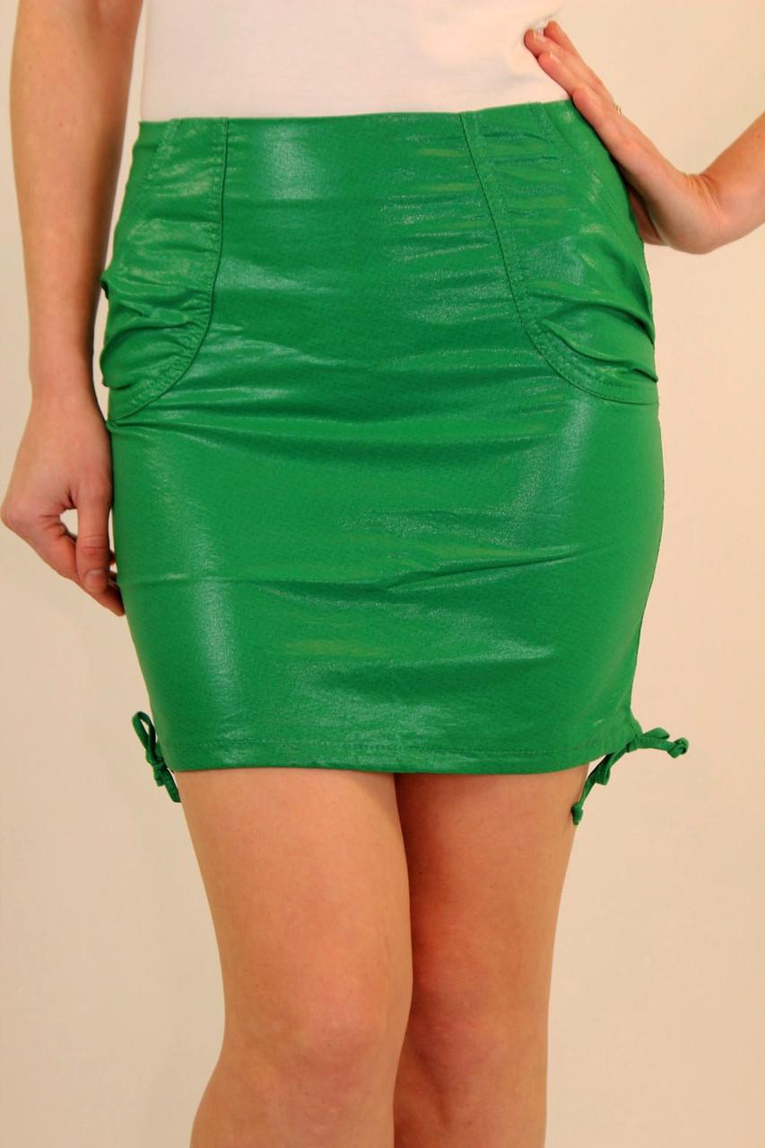 Летняя женская юбка 42-48 р ( зеленый, желтый )