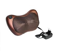 Роликовый масажер для спины и шеи MASSAGE PILLOW 8028 Массажная подушка,в автомобиль с инфокрасным подогревом