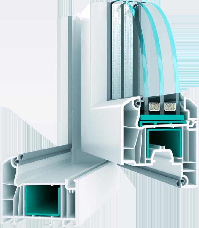 Металопластикове вікно з профілю Wds 6s