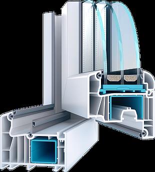 Металопластикове вікно з профілю Wds 8 Series