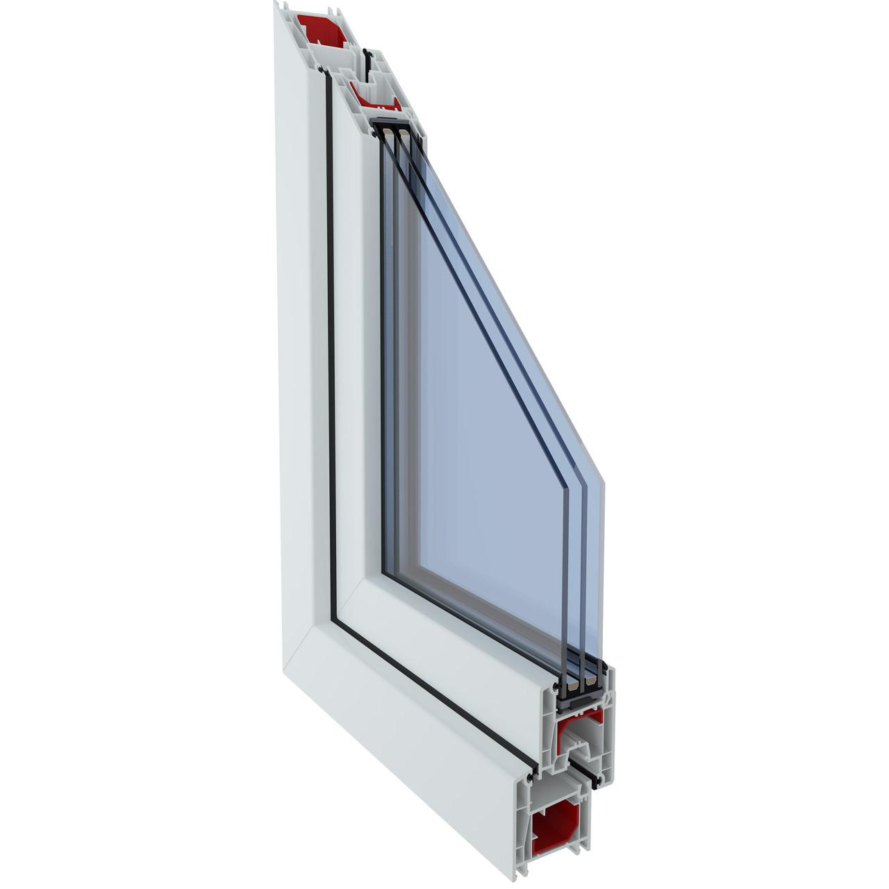 Металопластикове вікно з профілю Fenster 400