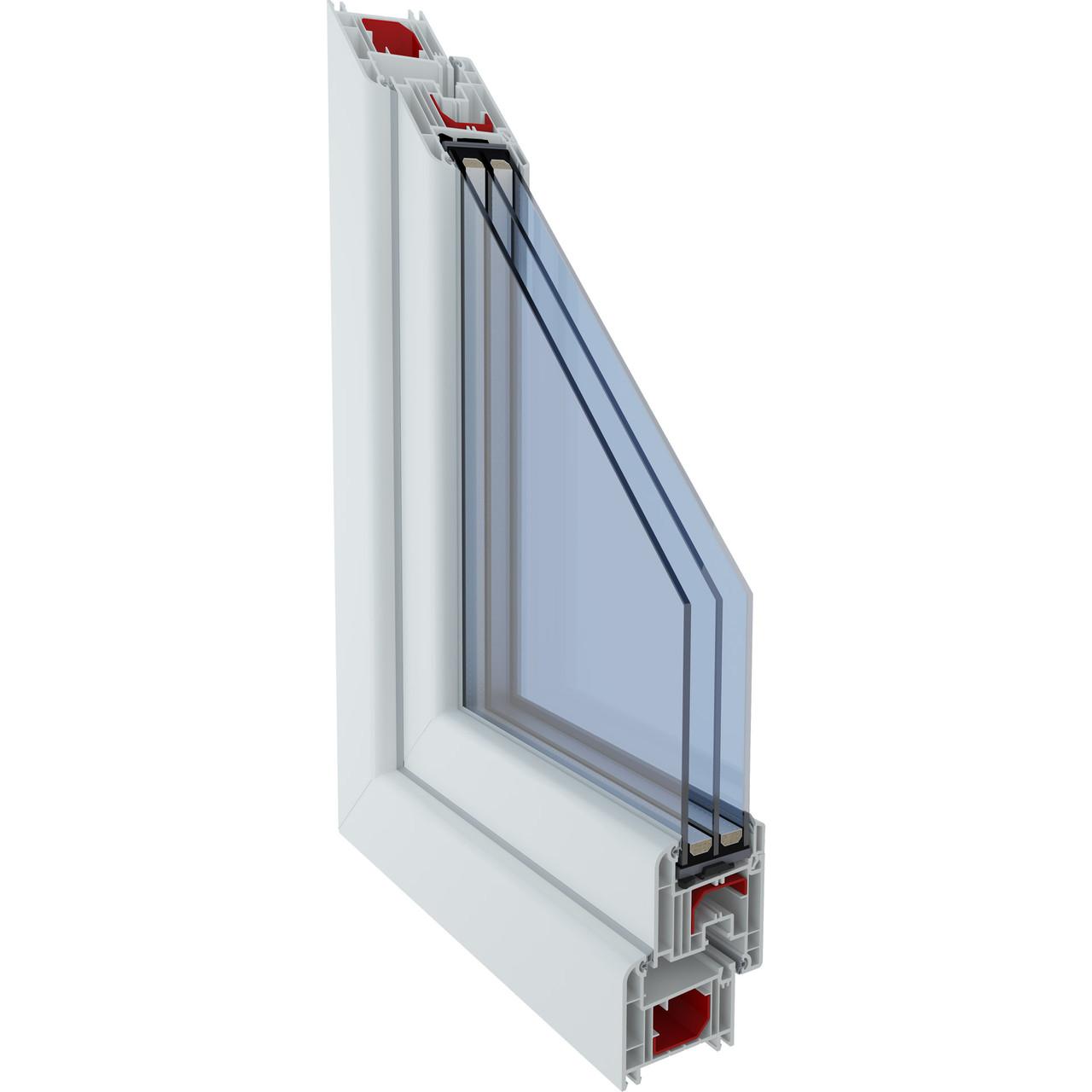 Металлопластиковое окно из профиля Mega line 500