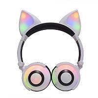 Бездротові навушники LINX LX-XBL109 Fox Ear Bluetooth навушники з вушками Лисички LED Білий (SUN4222)