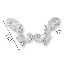Гипсовая лепнина декоративный угол у-2