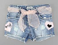 Джинсовые шорты для девочек Setty Koop оптом, 4-12 лет. {есть:10 лет,4 года,6 лет,8 лет}, фото 1