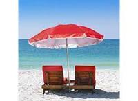 Пляжный, садовой, торговый Зонт диаметром 3,5 м с клапаном. 12 спиц. Красный