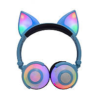 Бездротові навушники LINX LX-XBL109 Fox Ear Bluetooth навушники з вушками Лисички LED Блакитний (SUN4224)