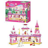 Конструктор типа лего для девочки Розовая мечта -Сказочный замок Sluban M38-B0251