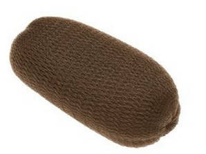 Еластична підкладка для волосся Sibel коричнева, 0922232-45