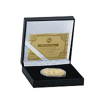 Монета Биткоин Bitcoin в подарочной коробке
