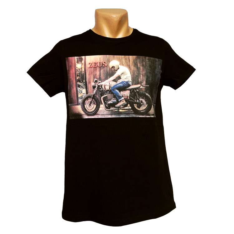 Стильная клубная футболка Zeus - №2386