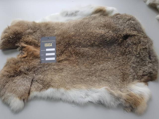 хутро рудого кролика, фото шкур