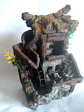 Фонтан для квартири з підсвічуванням будиночок