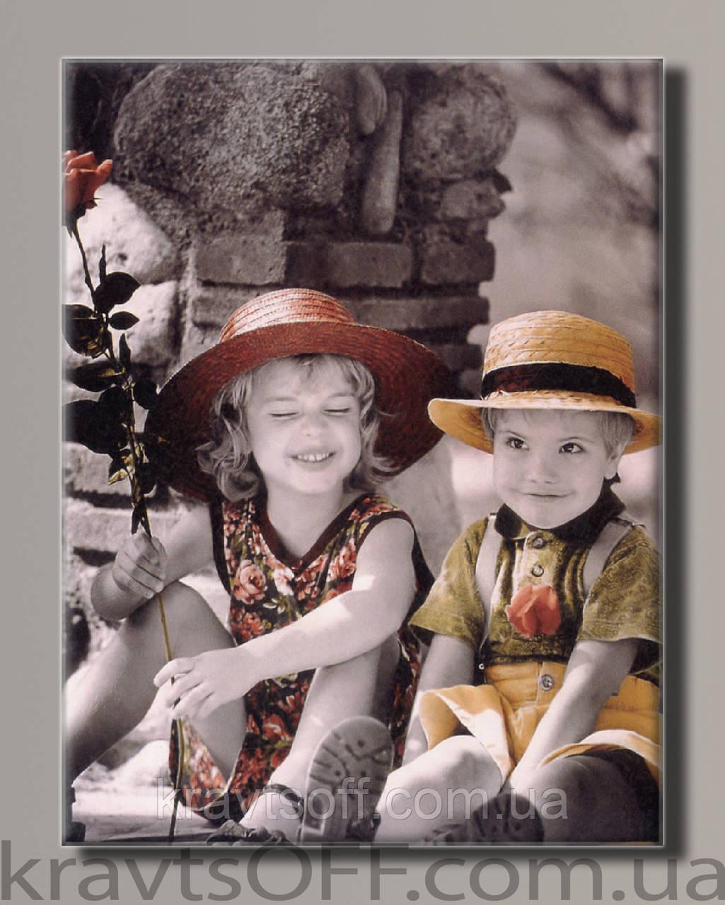 """Картина на холсте """"Ретро дети от Kim Anderson"""" ( 55х42 см )"""