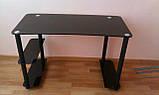 Комп'ютерний стіл з чорними ногами, фото 2