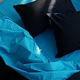 """Семейный комплект постельного белья ТМ """"Ловец снов"""", Однотонный черный, фото 2"""
