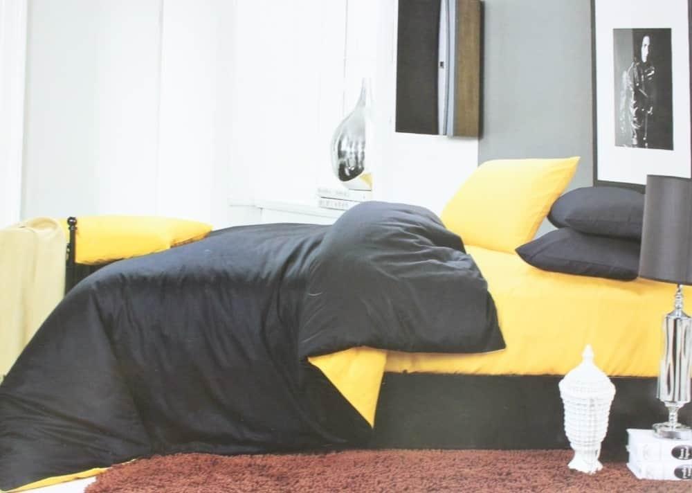 """Комплект двуспальный постельного белья ТМ """"Ловец снов"""", Однотонный черный"""