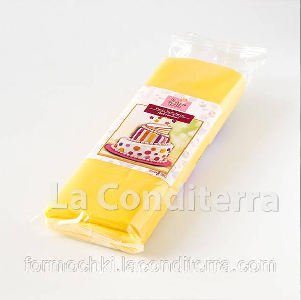Мастика для обтяжки тортов RUE FLAMBEE, 1 кг, желтая
