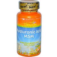 Гиалоурановая кислота с МСМ, 30 капсул с кишечным покрытием, Thompson, США