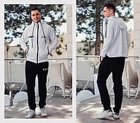 Мужской стильный спортивный костюм №752 (р.S-XXL) \ белый