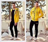 Мужской стильный спортивный костюм №752 (р.S-XXL) \ жёлтый
