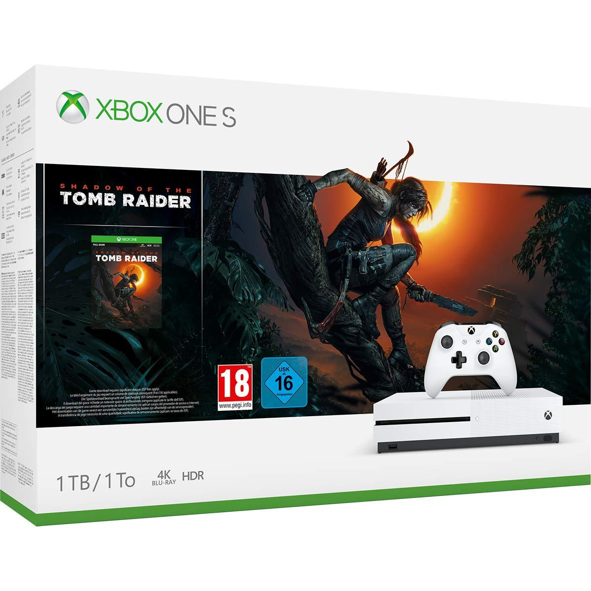 Игровая консоль Microsoft Xbox ONE S 1TB + Shadow of Tomb Raider