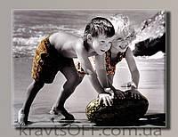 """Картина на холсте """"Ретро дети от Kim Anderson"""" ( 42х55 см )"""