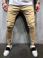 Стильные мужские джинсы бежевые 29