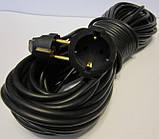 Удлинитель-переноска 50м. Украина. (сечение провода 3*0,75мм²) 10А 250 В 2200 Вт, фото 3