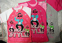 "Футболка ""Gangnam style "" со вставками  с 4 до 8лет"