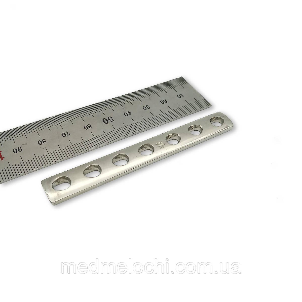 Пластина однорядка L = 86мм, D = 3,5 мм, 7 отв,