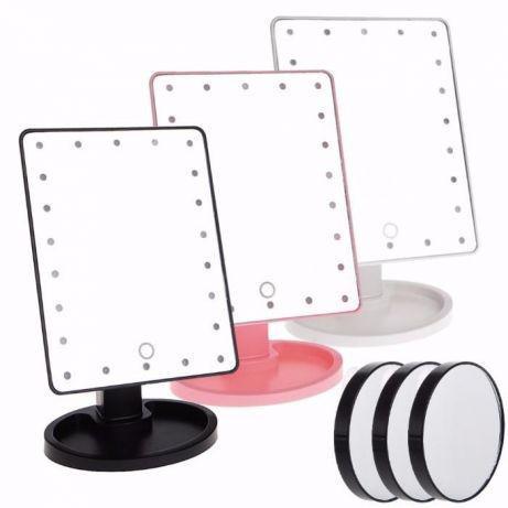Зеркало для макияжа с LED подсветкой Magic MakeUp Mirror квадратное