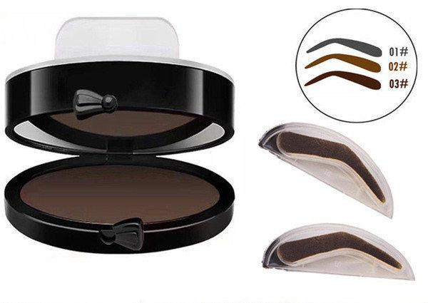 Штамп для бровей Eyebrow Beauty Stamp, пудра для бровей