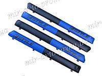 Накладки дверей (Батоны) Fstyle синие ВАЗ 2102 2101 2103 2104 2105 2106 2107