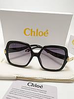 Женские солнцезащитные очки Chloe CE746 цвет черный