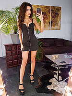 Замшевое платье с молнией-застежкой, фото 1