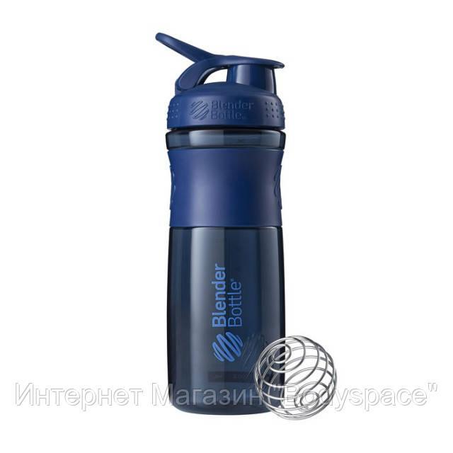 Blender Bottle, Спортивный шейкер-бутылка BlenderBottle SportMixer Navy, 760 мл