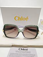 Женские солнцезащитные очки Chloe CE746 цвет оливка