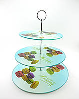 Стойка Подставка для торта фуршетная трехъярусная д= 20/ 25/ 30 см, в=32 см