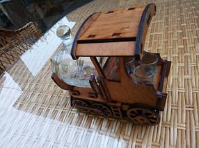 Мини-бар Поезд с рюмками и бочкой, фото 3