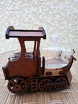 Мини-бар Поезд с рюмками и бочкой, фото 2