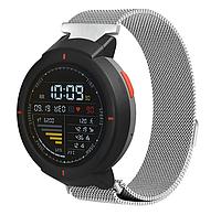 Миланский сетчатый ремешок для часов Xiaomi Amazfit Verge (A1801/A1811) - Silver