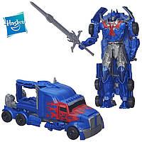 Робот-трансформер Оптимус Прайм с быстрой трансформацией- Optimus Prime, TF4, Flip&Change, Hasbro