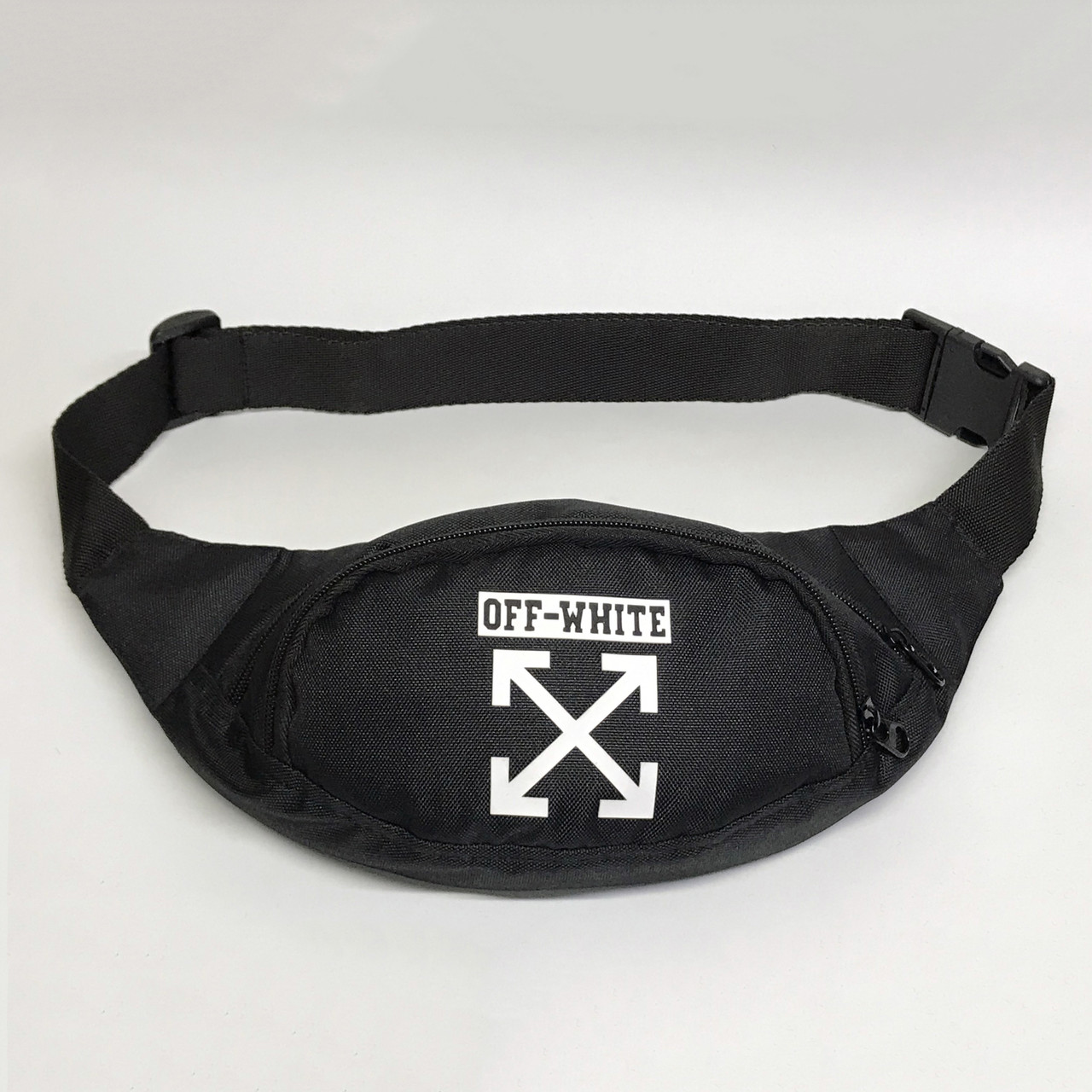 Поясна сумка в стилі Off White Cross чорна
