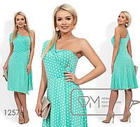 Асимметричное платье женское Трикотаж масло Размер 42 44 46 В наличии 3 цвета, фото 1