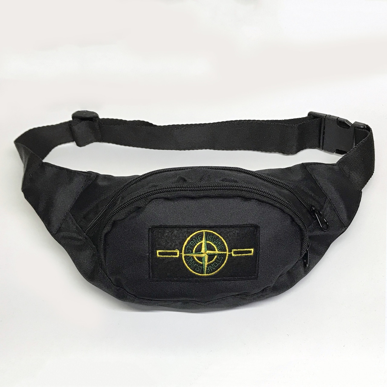 Поясна сумка в стилі Stone Island чорна