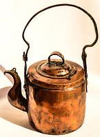 Антикварный чайник! Медь! РЕДКИЙ!!! XIX век.
