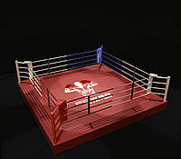Боксерский ринг на помосте (0,35 м) профессиональный 5,5Х5,5 метра